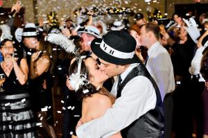 New Year's Eve Wedding Kiss at Turning Stone Casino