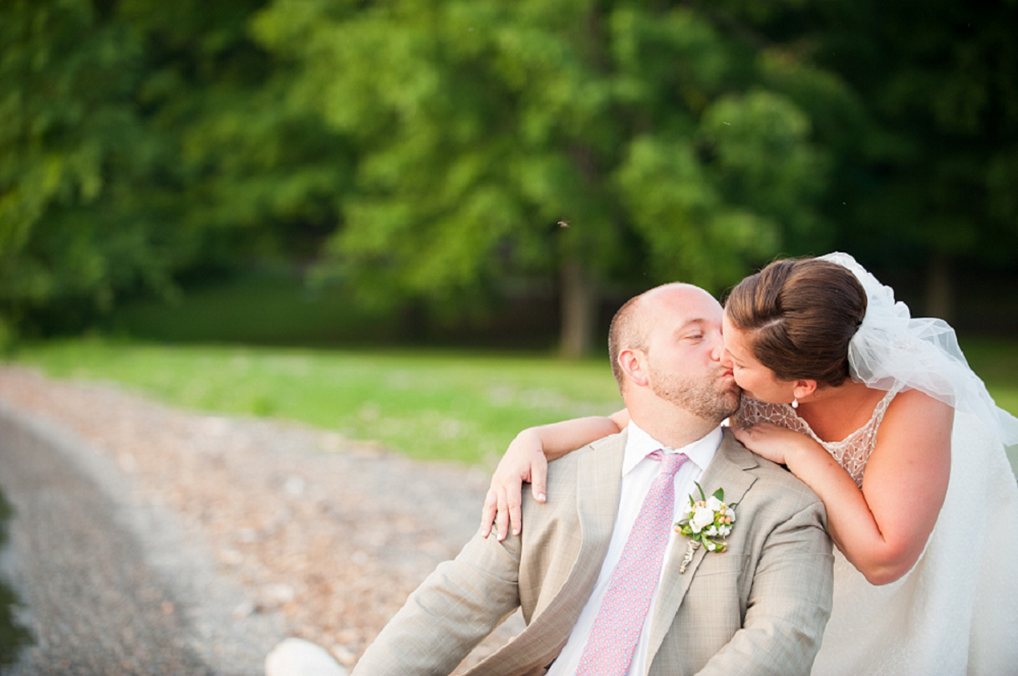 Skaneateles Wedding Kiss