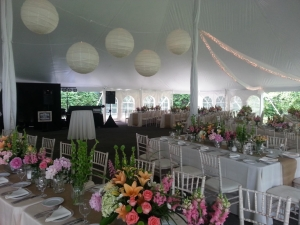 Lourdes Camp, tented reception, Skaneateles NY